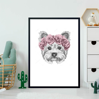 Постер Собака в венке из роз  - фото 2
