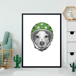 Постер Собака в зеленом шлеме  - фото 2