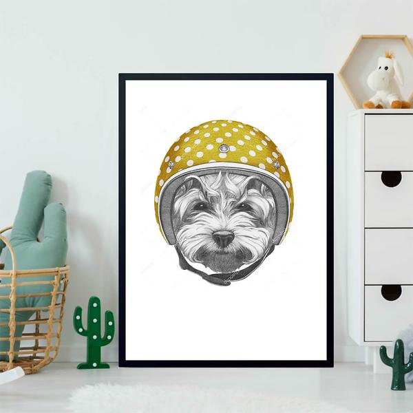 Постер Собака в желтом шлеме  - фото 2