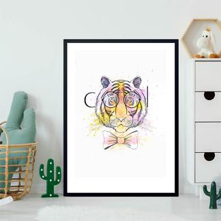 Постер Тигр в очках COOL  - фото 2