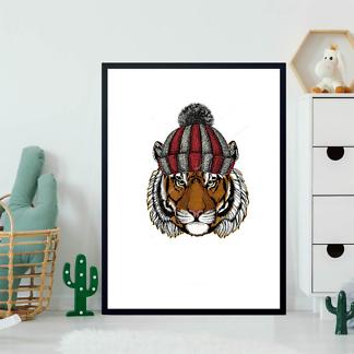 Постер Тигр в шапке  - фото 2