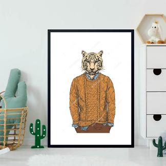 Постер Тигр в свитере  - фото 2