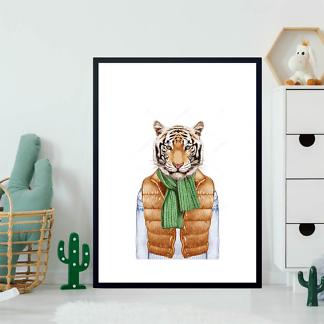 Постер Тигр в жилете  - фото 2