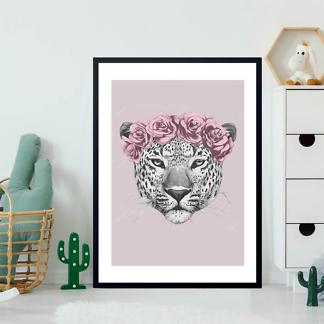 Постер Ягуар в цветах  - фото 2