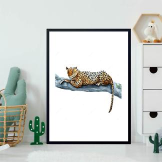 Постер Ягуар лежит на ветке  - фото 2