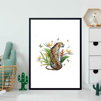 Постер Ягуар и бабочки  - фото 2