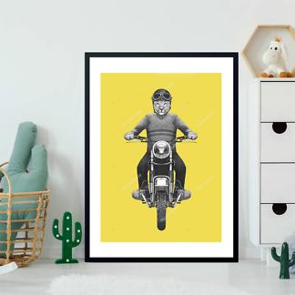 Постер Ягуар на мотоцикле  - фото 2