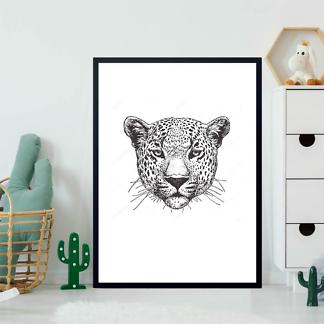 Постер Черно-белый ягуар  - фото 2