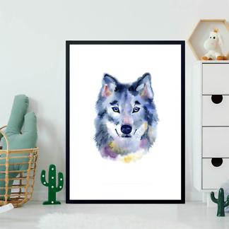 Постер Акварельный волк  - фото 2