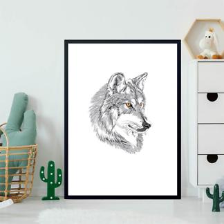 Постер Эскиз волка  - фото 2