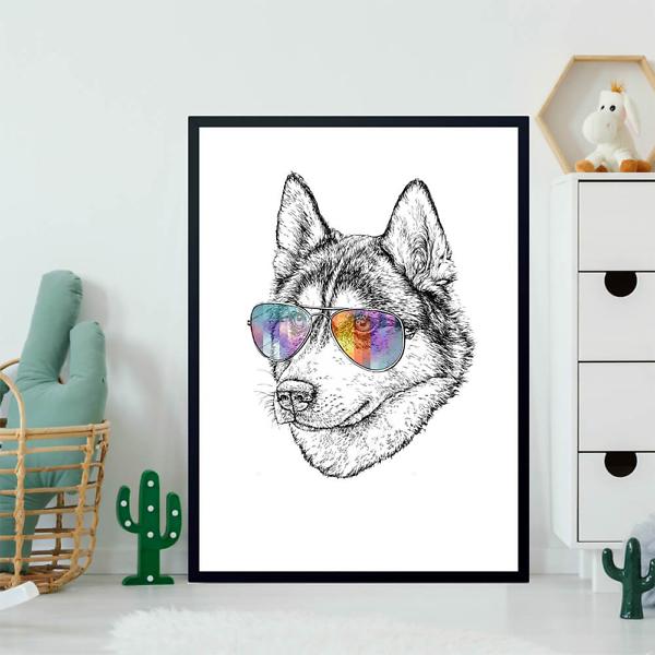 Постер Волк в цветных очках  - фото 2