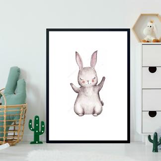 Постер Акварельный зайчик -2  - фото 2