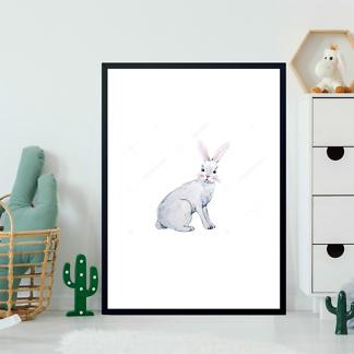 Постер Акварельный заяц -2  - фото 2