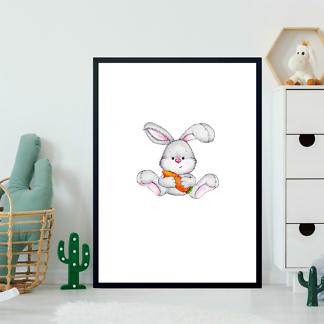 Постер Заяц с морковкой  - фото 2