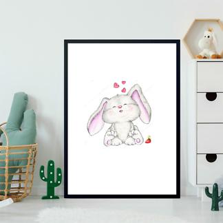 Постер Заяц с сердечками  - фото 2