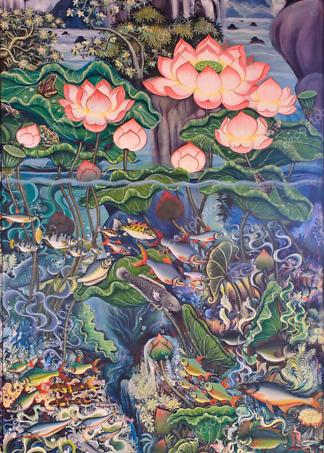 Картина в тайском стиле  - фото