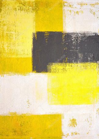 Картина Желто-серая абстракция  - фото