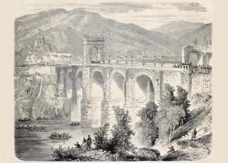 Картина мост Алькатара  - фото