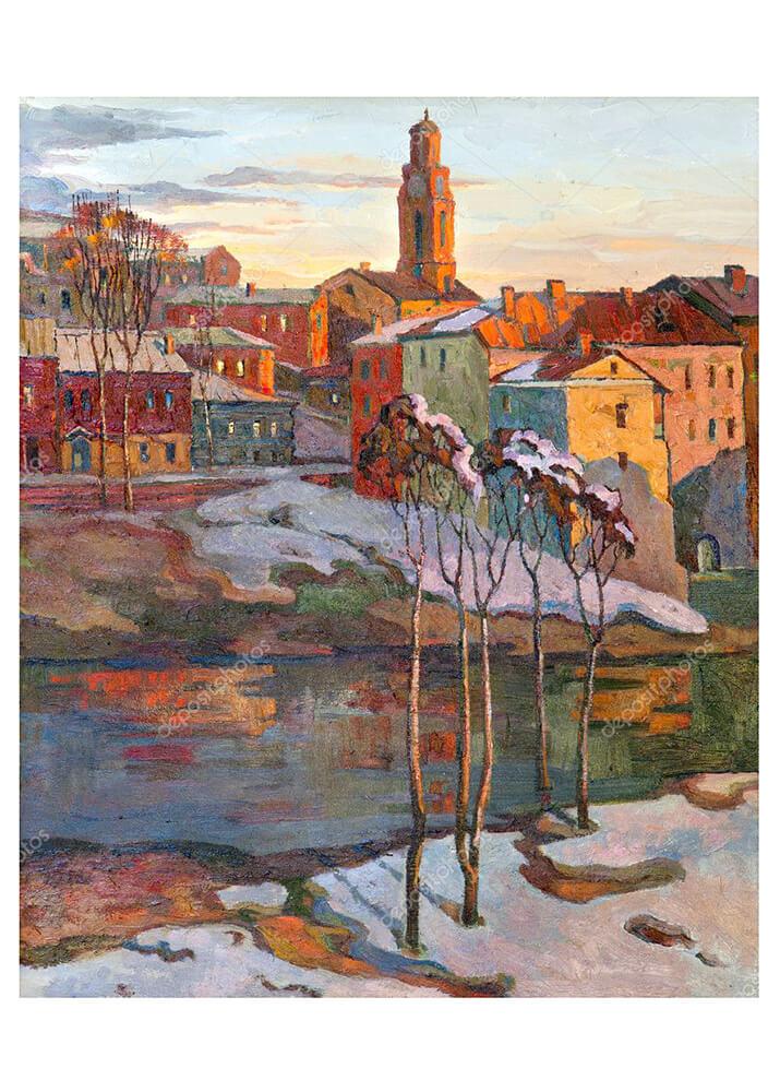 Картина Виды Витебска  - фото