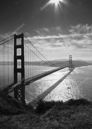 Постер мост Золотые ворота  - фото