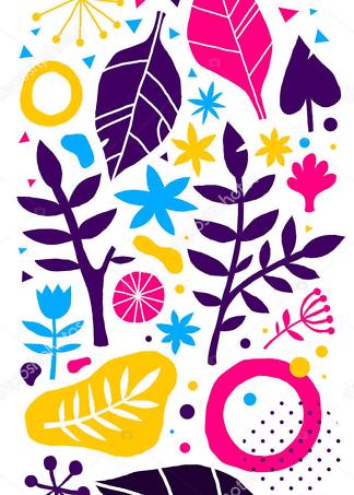 Картина ботанический орнамент  - фото