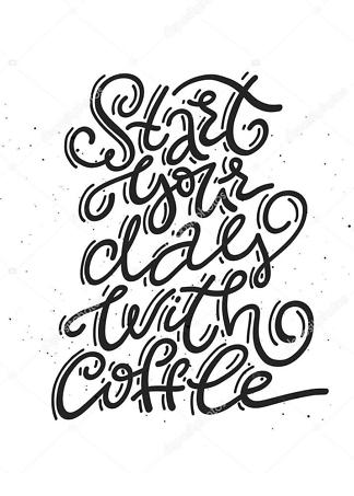 Постер start your day with coffee  - фото