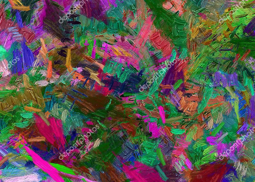 Картина в абстрактной технике  - фото
