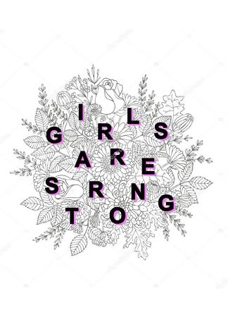Постер girl are strong  - фото