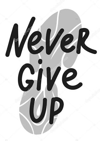 Постер never give up  - фото