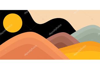 Картина горы  - фото