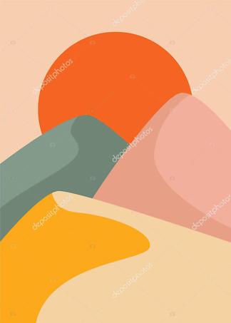 Картина дюны  - фото