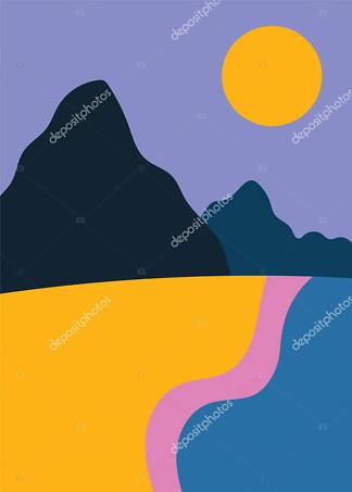 Картина берег океана  - фото