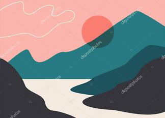 Картина Солнце над бухтой  - фото