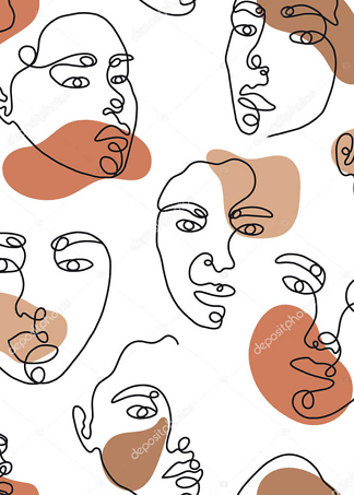 Картина лица  - фото