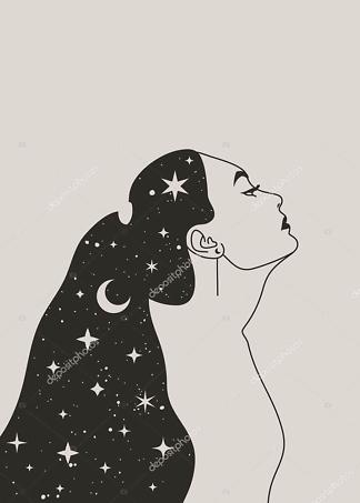 Постер девушка ночь  - фото