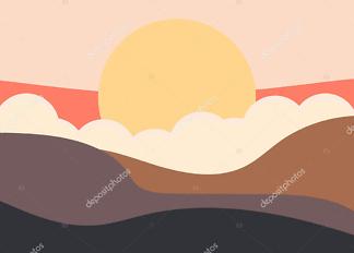 Картина закат  - фото