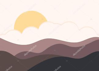 Картина восход  - фото