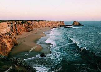Постер океан на закате  - фото