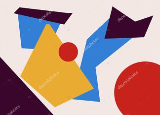 Картина абстрактные формы  - фото