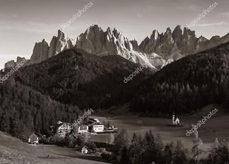 Постер деревня в горах-2  - фото