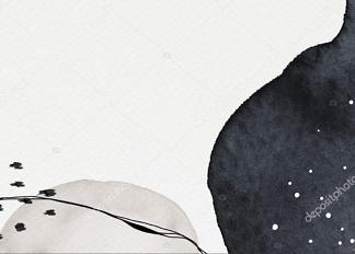 Картина абстрактная черно-белая  - фото