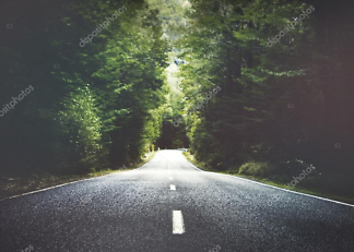 Постер летняя дорога  - фото