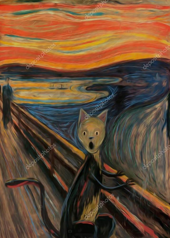 Картина крик кошки  - фото