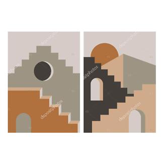 Модульная картина архитектура востока  - фото