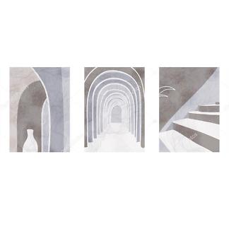 Модульная картина архитектура  - фото
