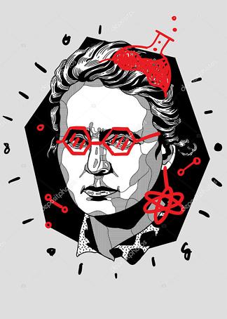 Постер Марии Кюри  - фото