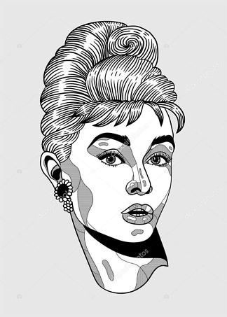 Постер Одри Хепберн  - фото