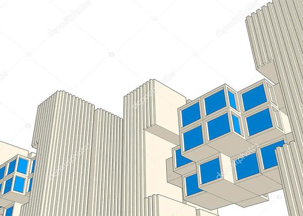 Постер архитектурные формы  - фото