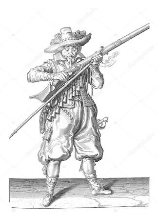 Постер гравюра охотника  - фото