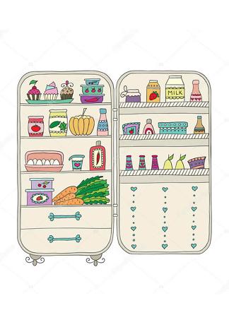 Постер холодильник  - фото